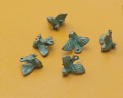 Zola Elements Patina Green Brass (plated) Bird in Flight Charm 15x12mm