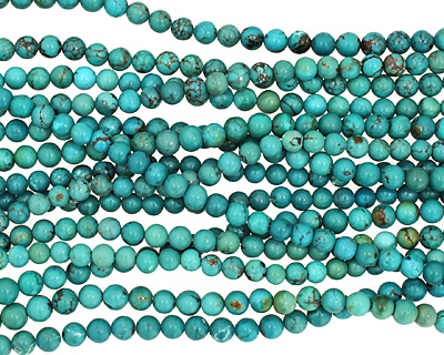 Chinese Turquoise Round 5-6mm