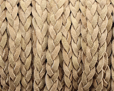 Natural Flat Braided Suede Leather 12mm