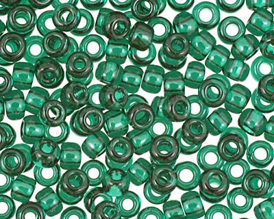 TOHO Transparent Green Emerald Round 11/0 Seed Bead
