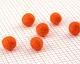 Tangerine Felt Round 15mm