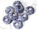 Brazil Sodalite Off Center Donut 25mm