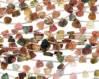 Tourmaline Irregular Flat Teardrop 6-8mm