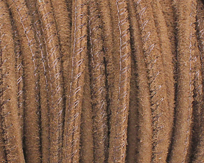 Red Brown Stitched Suede Round Leather Cord 2.5mm