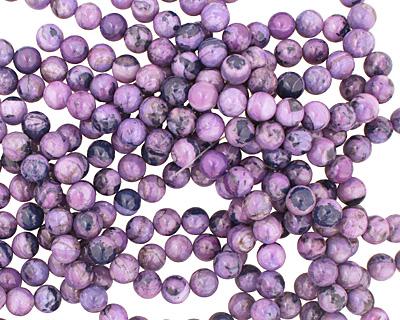 Purple Wave Agate Round 10mm
