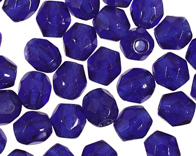 Czech Fire Polished Glass Cobalt Round 3mm