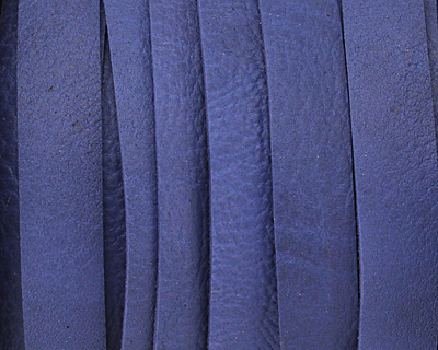 Blue Deertan Leather Lace 10mm