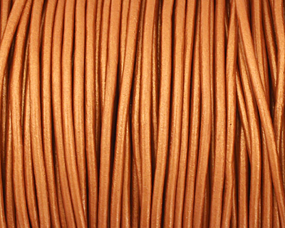 Dusty Brown (metallic) Round Leather Cord 2mm