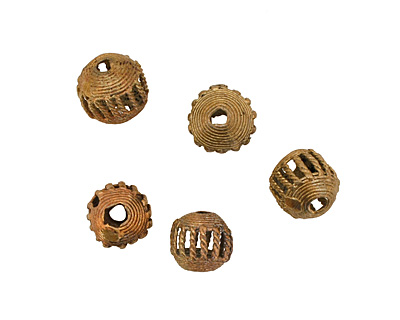 African Brass Cage Round 17-20mm