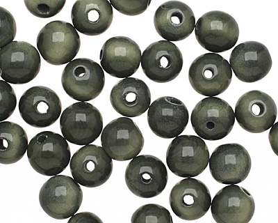 Tagua Nut Forest Green Round 9mm