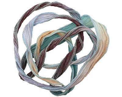 Om My! Hand Dyed 100% Silk Ribbon 1/2