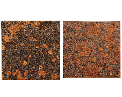 Lillypilly Mottled Raised Flower Embossed Patina Copper Sheet 3
