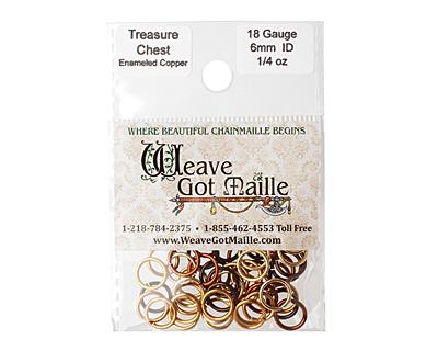 Treasure Chest Mix Enameled Copper Round Jump Ring 8mm, 18 gauge