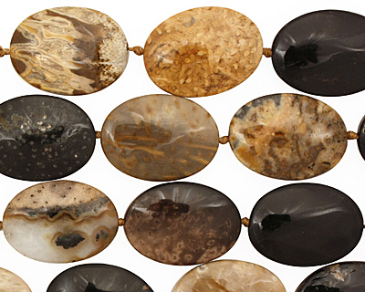Palm Jasper Flat Oval 25x18mm