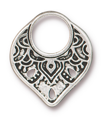 TierraCast Antique Silver (plated) Temple Ring Toggle Clasp 18x21mm, 22x4mm bar