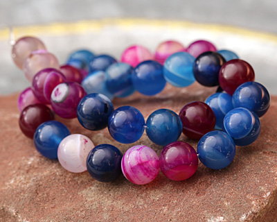 Jewel Tone Multi Agate Round 10mm