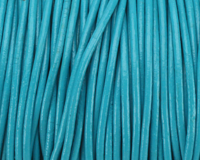 Turquoise Round Leather Cord 1.5mm