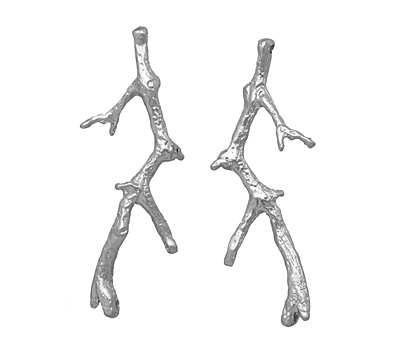Ezel Findings Rhodium (plated) 4-Hole Branch Link 53x25mm