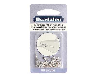 Beadalon Silver (plated) Crimp Tubes for .8mm Stretch Cord
