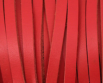Red Leather Belting Lace 5mm