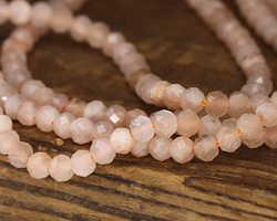 Peach Moonstone Faceted Round 3mm