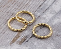 Gold (plated) Twisted Jump Ring 10mm