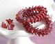 Czech Glass Raspberry w/ Metallic Pink 5 Point Bellflower 5x8mm