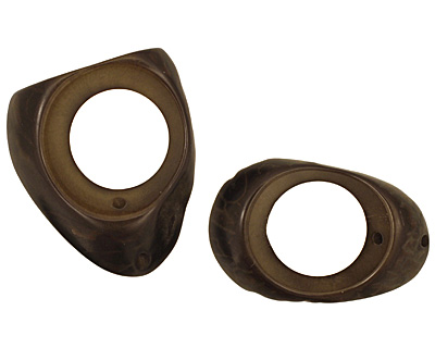 Tagua Nut Olive Open Slice 33-45x24-36mm