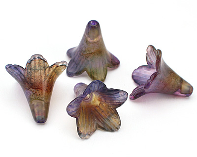Vintage Meadow Acrylic Iris Large Bellflower 23x22mm