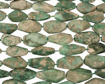 Variscite Faceted Flat Slab 30-40x16-25mm