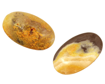 Mexican Sunflower Agate Oval Cabochon 15x25mm
