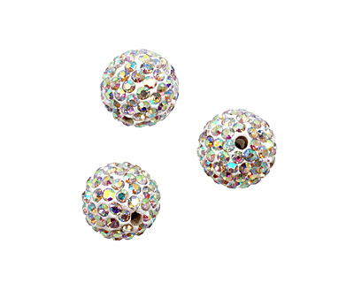 Crystal AB Pave Round 12mm (1.5mm hole)