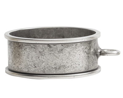 Nunn Design Antique Silver (plated) Open Large Circle Deep Channel Bezel 24x29mm