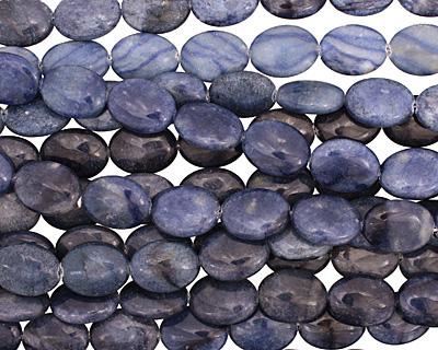 Blue Water Jasper Flat Oval 20x15mm