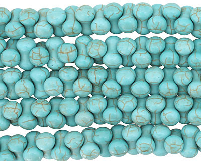 Blue Magnesite Barbell 8x14mm