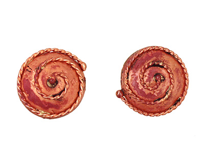 Patricia Healey Copper Coiled Rope Puff Coin 18mm