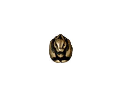 TierraCast Antique Brass (plated) Rabbit Euro 9x10mm