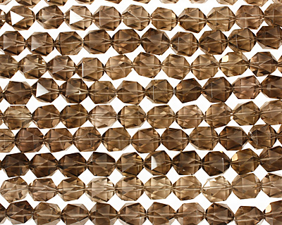 Smoky Quartz Faceted Barrel 15-16x13-14mm