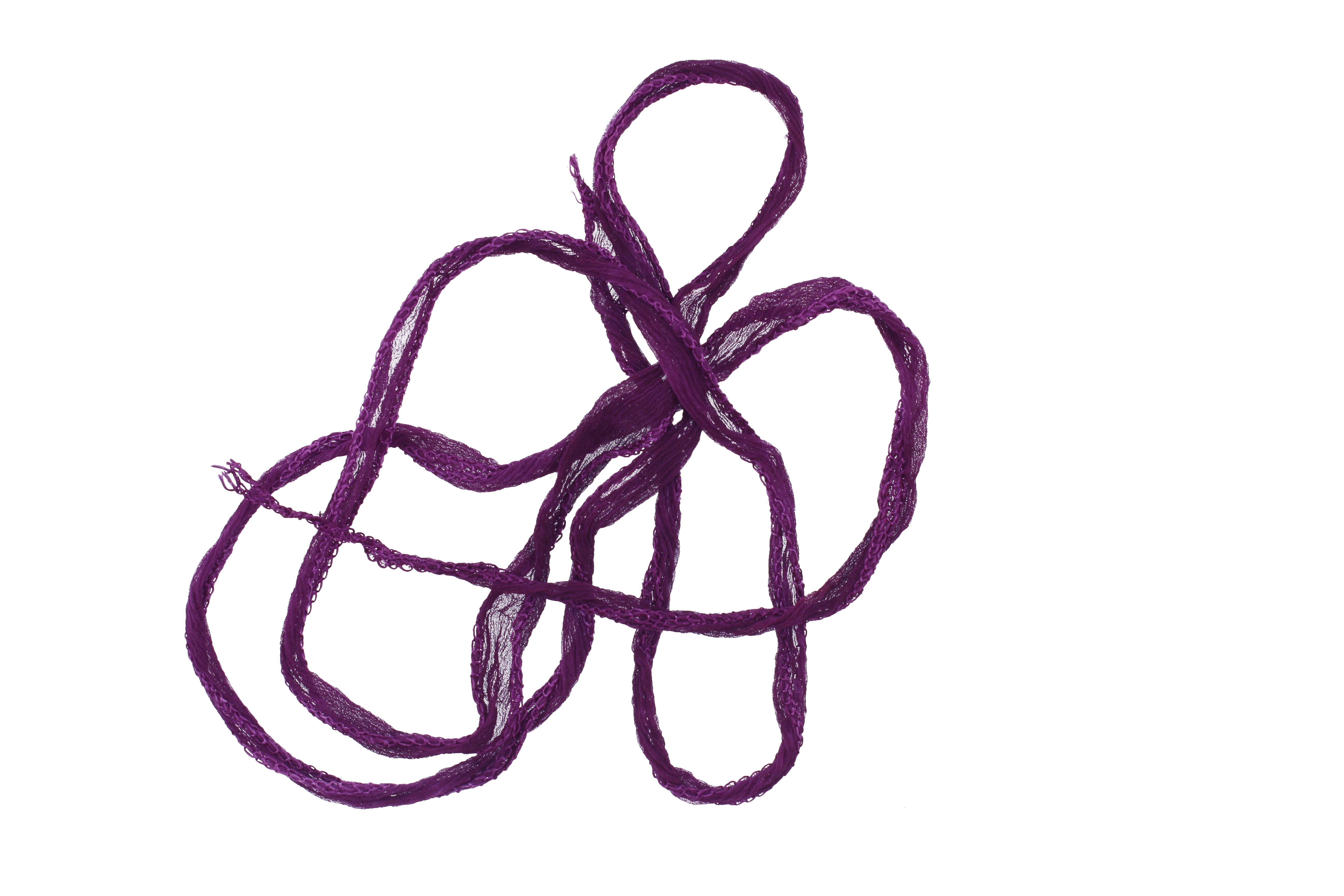 Amethyst Fairy Silk Ribbon 1/2
