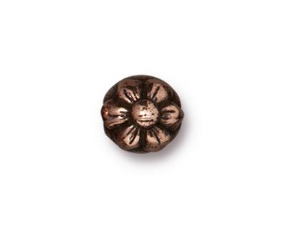 TierraCast Antique Copper (plated) Blossom Guru Bead 7.5x16mm