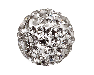 Crystal Pave Round 10mm