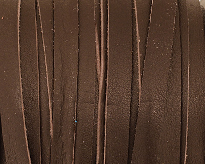Red Brown Deertan Leather Lace 5mm