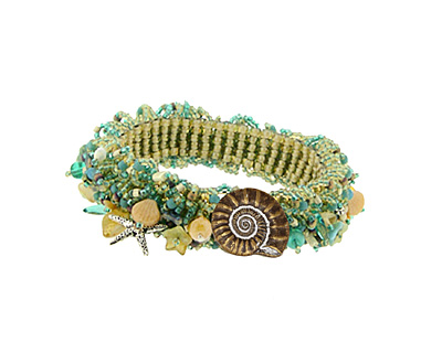 Glass Garden Seashore Caterpillar Bracelet Kit