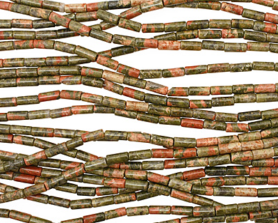 Unakite Tube 10x4mm