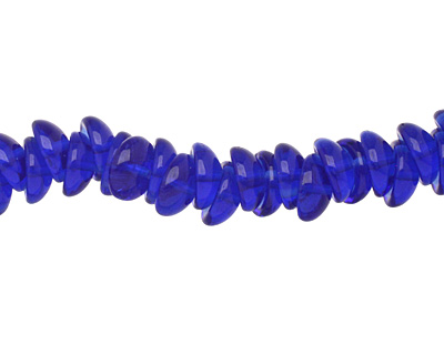 Czech Glass Transparent Cobalt 2-Hole Piggy Bead 8mm