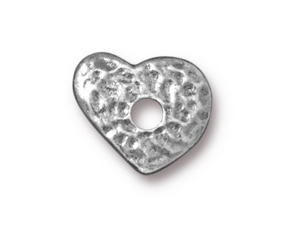 TierraCast Antique Pewter (plated) Heart Rivetable 12mm