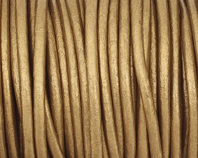 Tota (metallic) Round Leather Cord 2mm