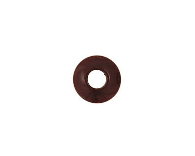 Tagua Nut Espresso Large Hole Rondelle 3x8mm