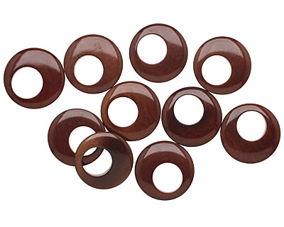 Tagua Nut Dark Brown Gypsy Hoop 25mm
