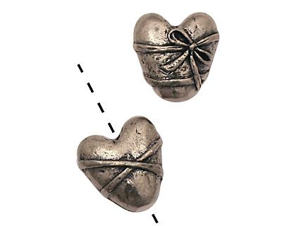 Green Girl Pewter Single Bound Heart 15mm